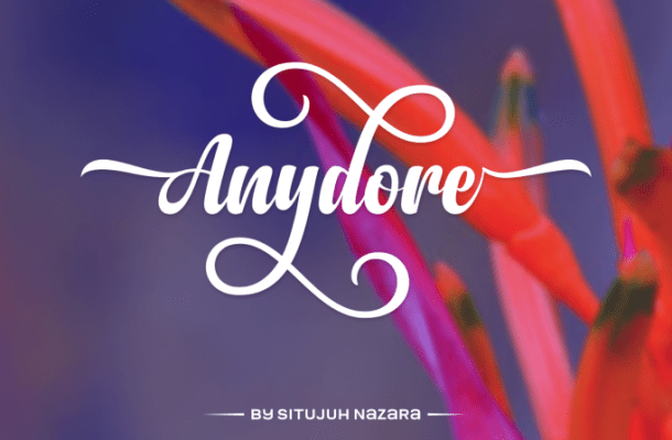 Anydore Script Font Free