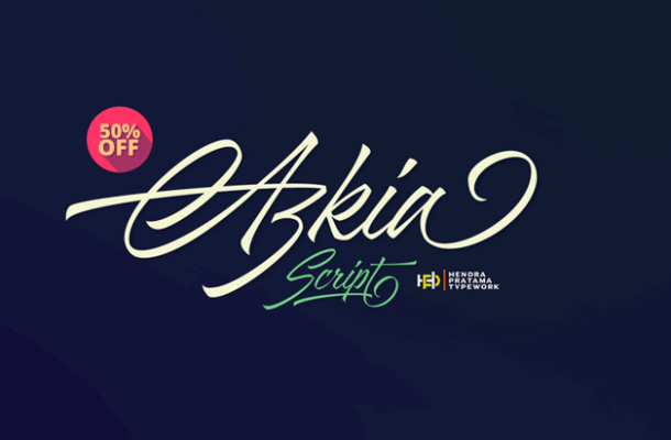 Azkia Script Font Free