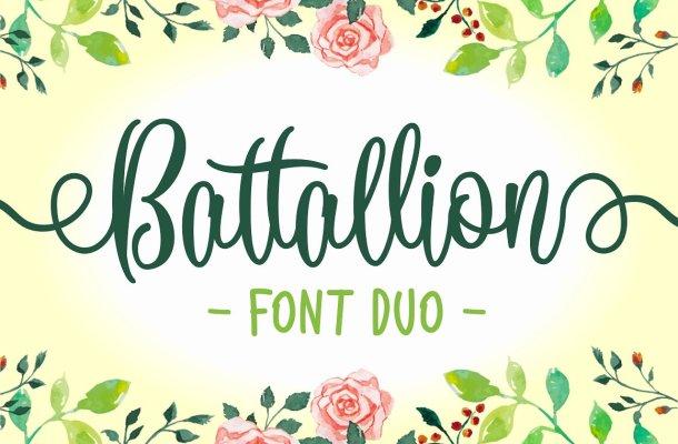Battallion Script Font Free