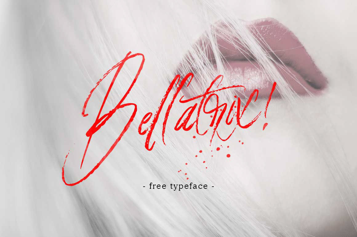 bellatrix-handbrush-font