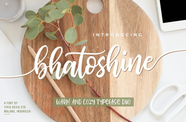 Bhatoshine Script Font Free