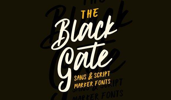 Black Gate Typeface Free