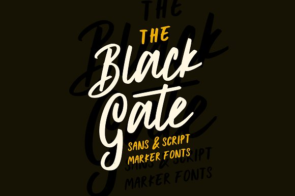 Black Gate Typeface Free