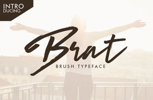 Brat Brush Typeface Free