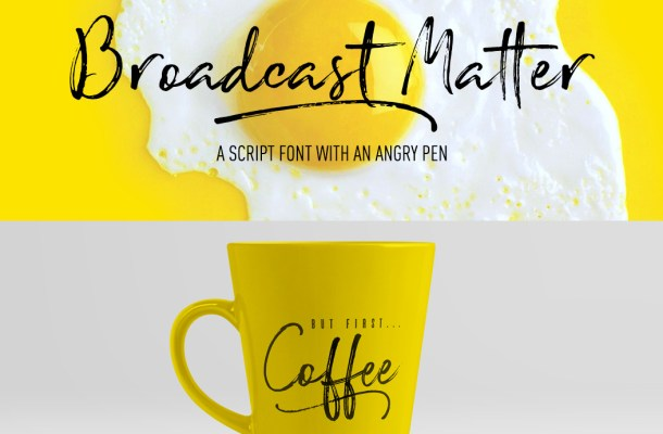 Broadcast Matter Font Free