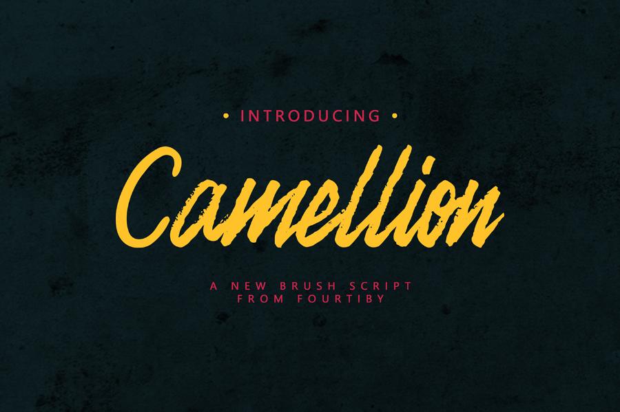 camellion-brush-font
