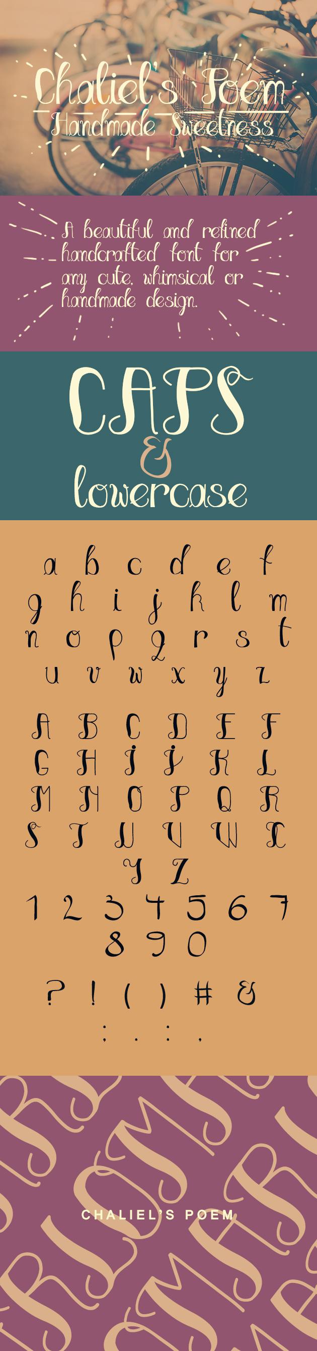 chaliels-poem-script-font