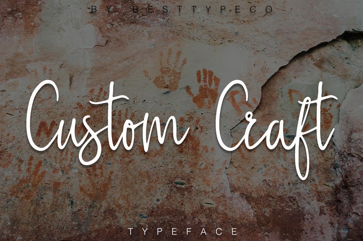 custom-craft-script-font