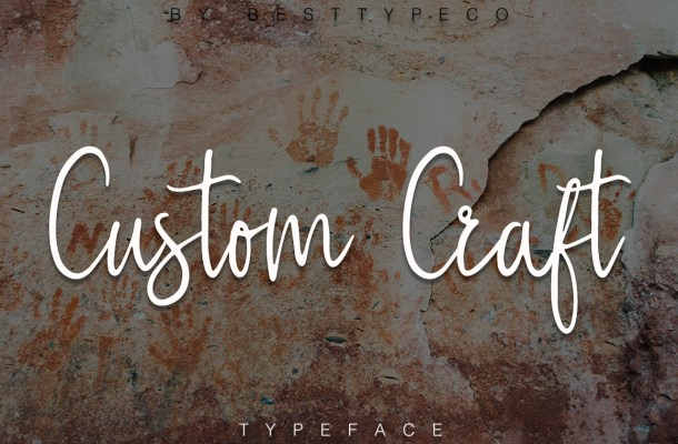 Custom Craft Script Font Free
