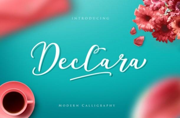 Declara Script Font Free