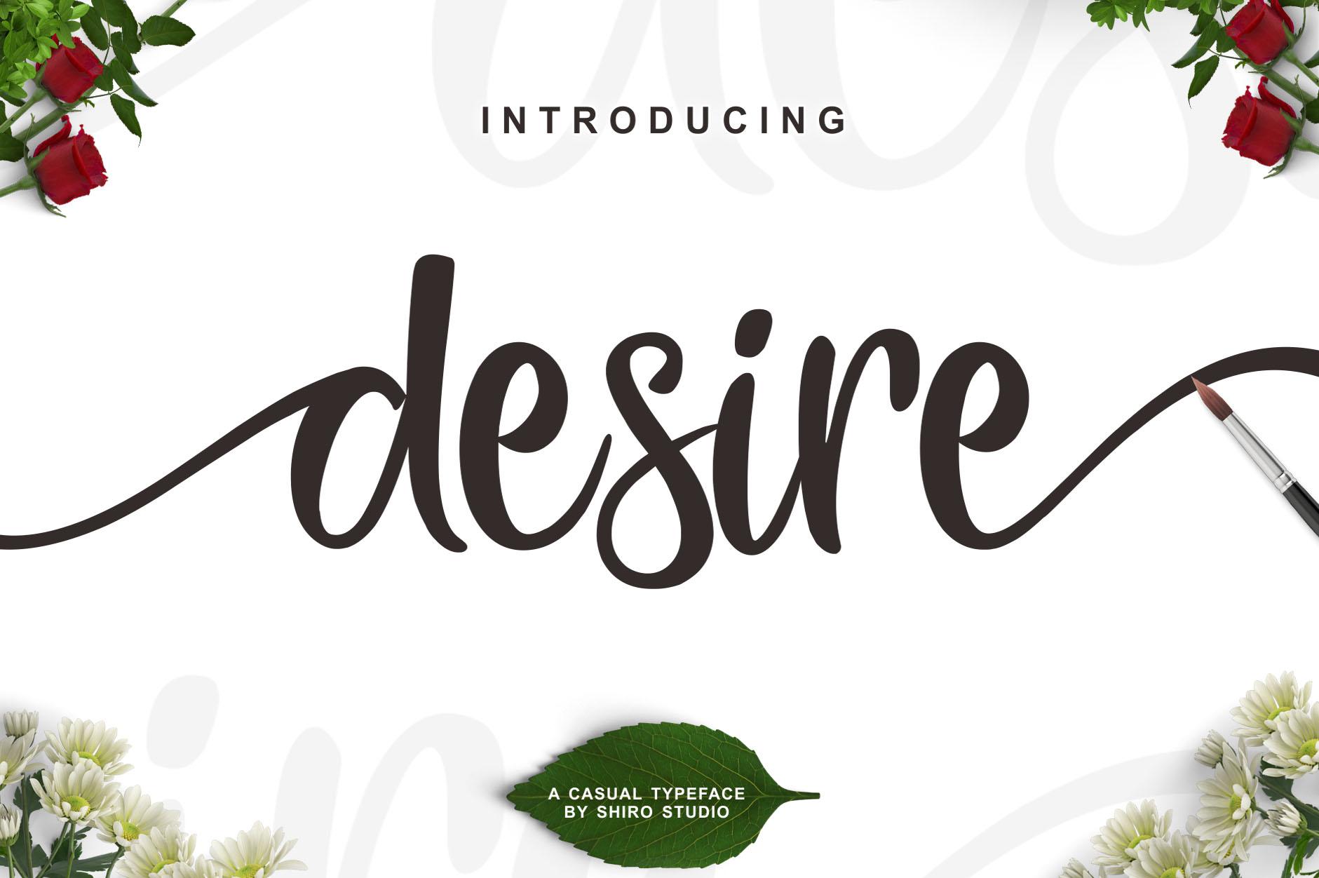 desire-script-font