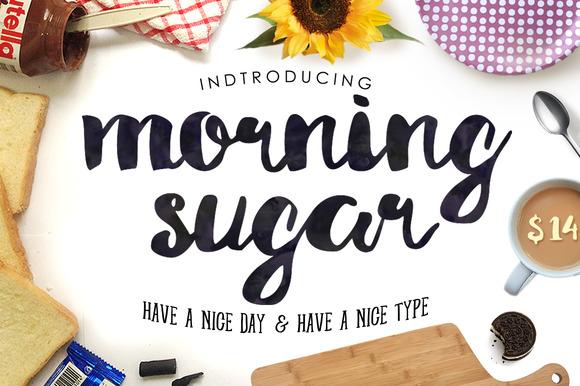 Morning Sugar Typeface + Extra