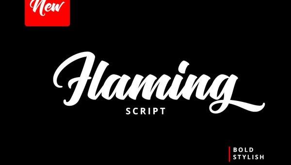 Flaming Script Font Free