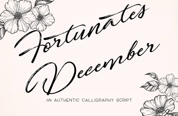 Fortunates December Font Free