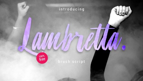 Lambretta Brush Font Free