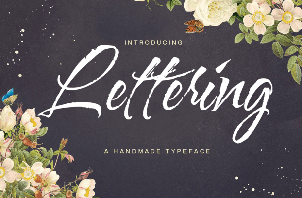 Lettering Script Font Free