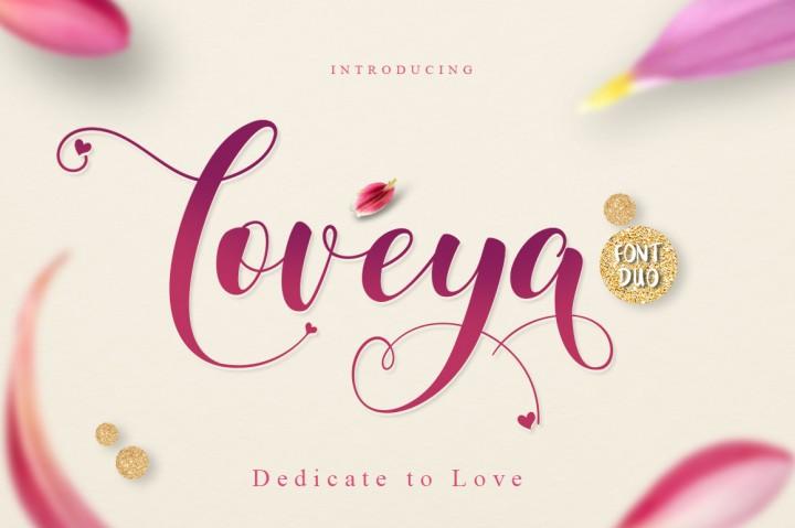 Loveya Script Font Free Dafont Free