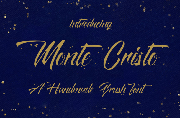 Monte Cristo Brush Font Free