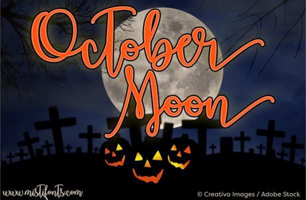 October Moon Font Free