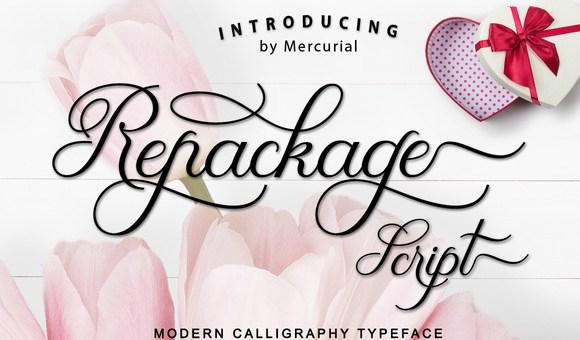 Repackage Script Font Free