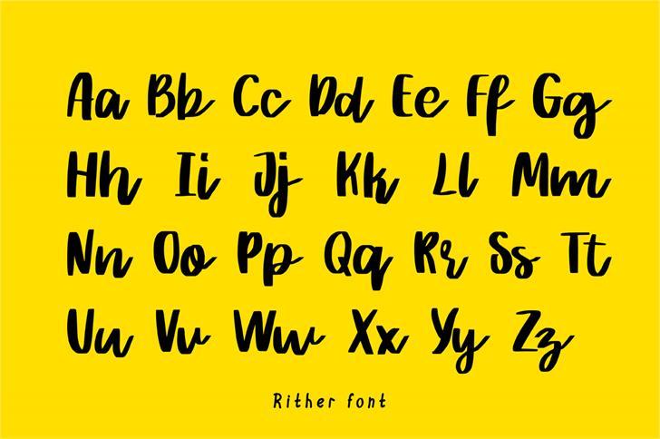 rither-script-font