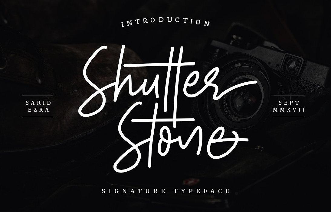 shutter-stone-font