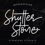 Shutter Stone Font Free