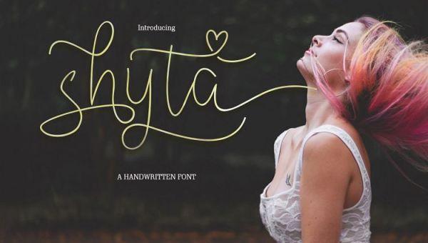Shyta Script Font Free