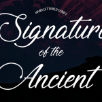 Signature of the Ancient Font Free