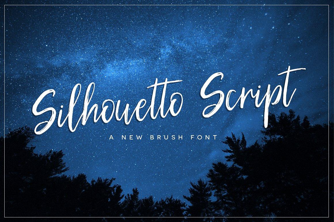 silhouetto-script-font