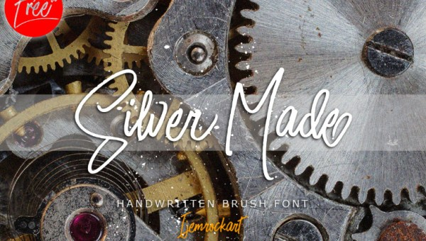 Silver Made Script Font Free