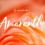 Amaranth Handwritten Font Free