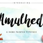 Amulhed Brush Font Free