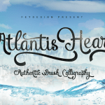Atlantis Heart Font Free