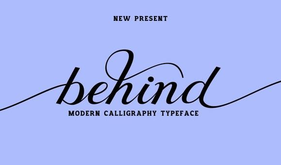 Behind Script Font Free