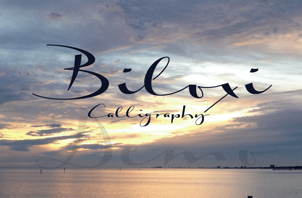 Biloxi Calligraphy Font Free