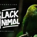 Black Animal Font Free