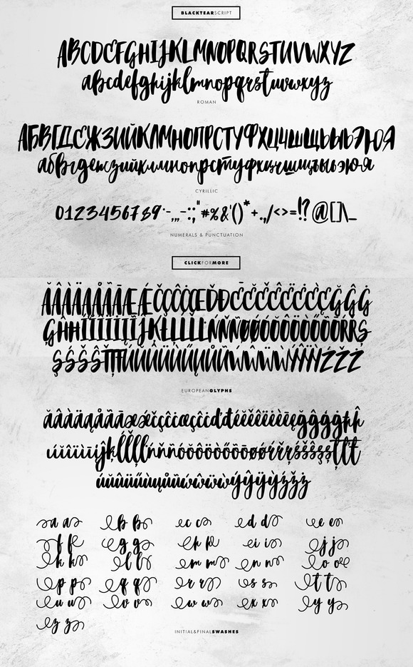 blacktear-script-font
