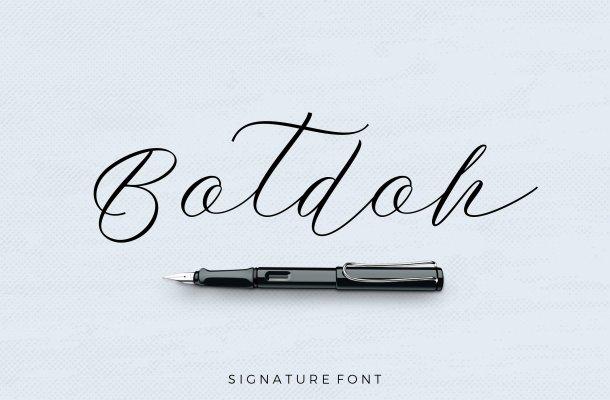 Botdoh Script Font Free