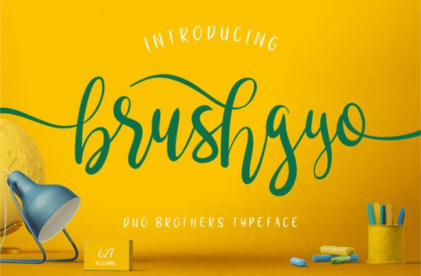 Brushgyo Typeface Free