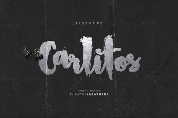 Carlitos Grunge Script Font Free