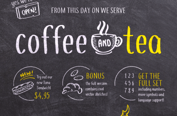 Coffee+Tea Font Free