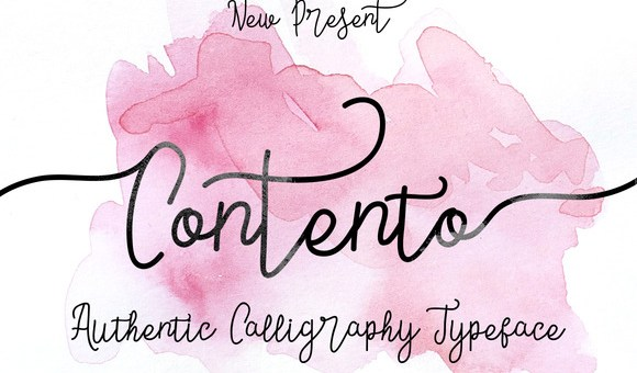 Contento Script Font Free