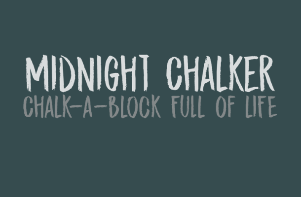 DK Midnight Chalker Font Free