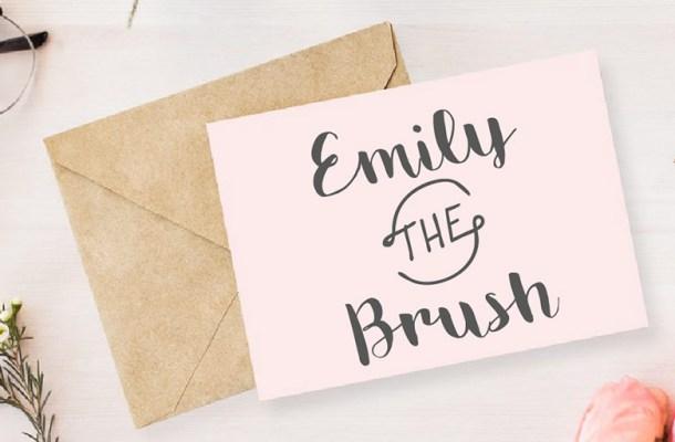 Emily The Brush Font Free