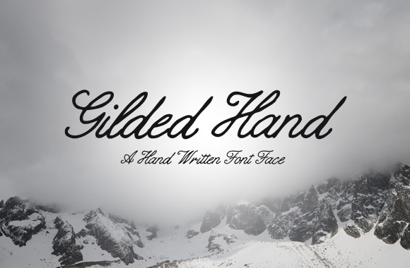 Gilded Hand Script Font Free