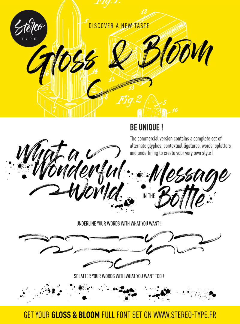 gloss-and-bloom-font