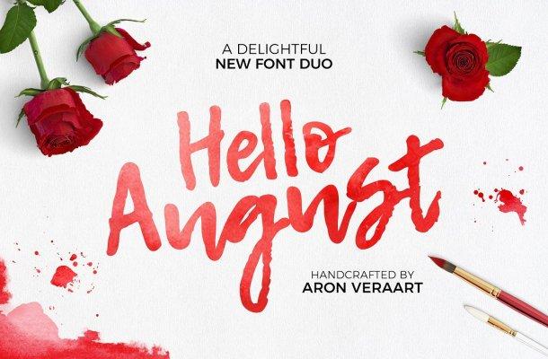 Hello August Script Font Free