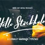 Hello Stockholm Handmade Typeface Free