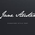 Jane Austen Signature Font Free